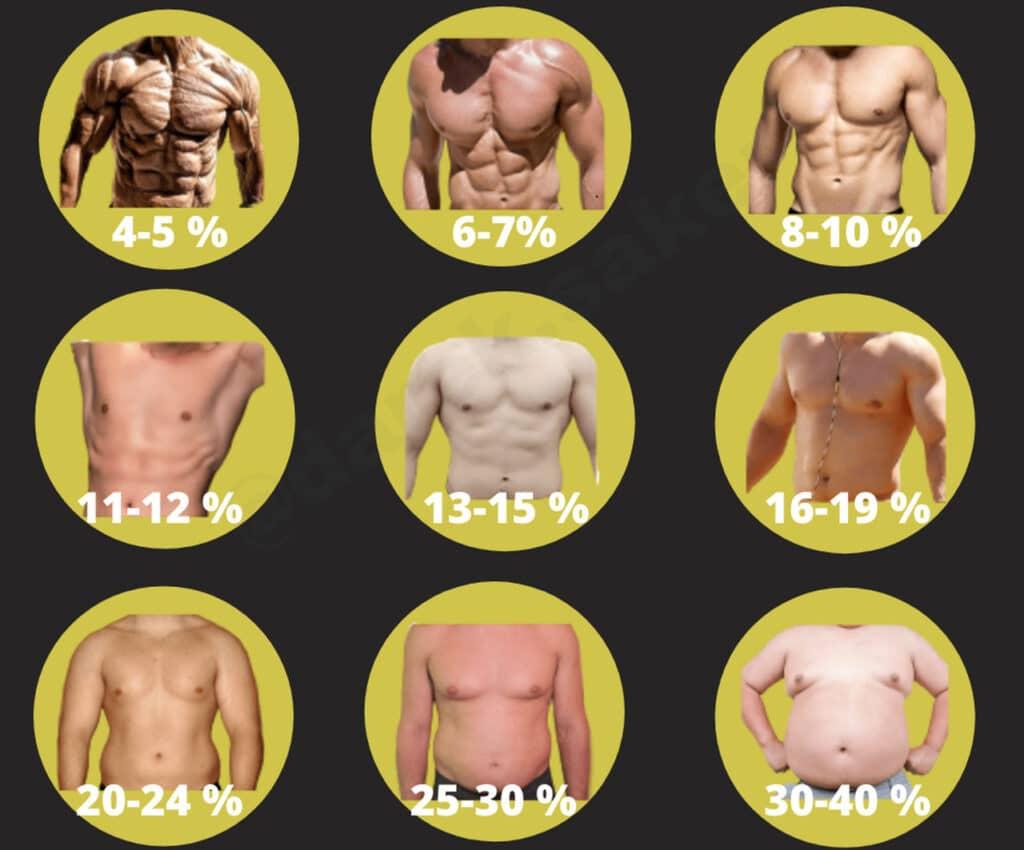 poziom tkanki tłuszczowej męski